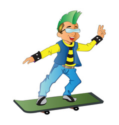 Punk on a skateboard vector