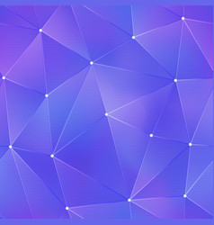 purple tech triangle pattern vector image