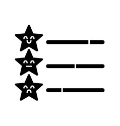 rating scale glyph icon vector image