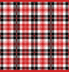 red tartan plaid seamless pattern vector image