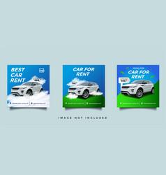 Rent car social media instagram banner template vector