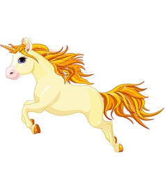 Running unicorn vector image
