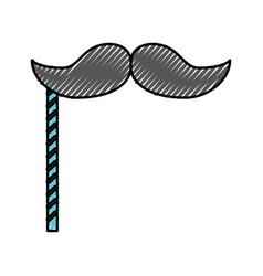 scribble booth prop moustache cartoon vector image