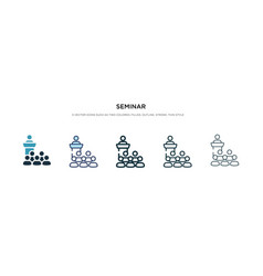 Seminar icon in different style two colored and vector
