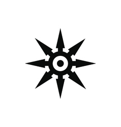 Shuriken black simple icon vector