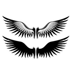 Sign of angel wings vector