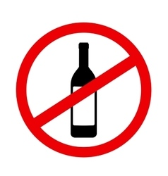 sign stop alcohol vector image