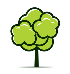 Summer naked tree outline plant vector