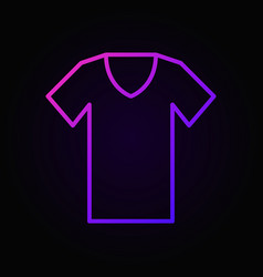 T-shirt colored outline icon tshirt symbol vector