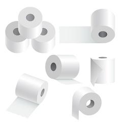Toilet paper set vector