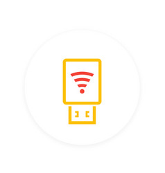 Usb wi-fi modem icon vector