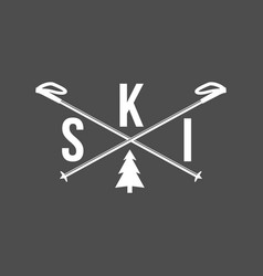 Vintage skiing labels and design elements vector