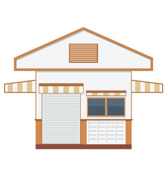 warehouse transportation in flat styleisolated vector image