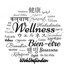 Wellness word cloud vector image