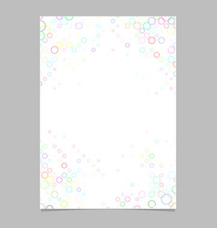 Colorful circle pattern brochure template vector