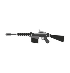 gun submachine weapon rifle military automatic vector image