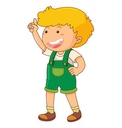 little boy with finger pointing up vector image