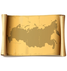 Paper Scroll with Russia vector image vector image
