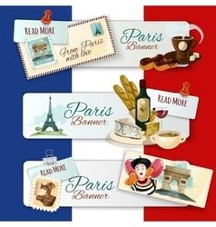 Paris Touristic Banners vector image