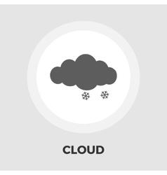 Snow flat icon vector image vector image