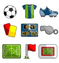 soccer object icon vector image vector image