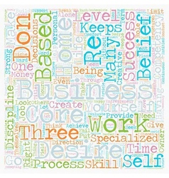 The core competencies of a successful home based vector