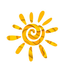 Abstract summer sun logo design vector