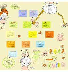 cartoon style calendar 2012 vector image