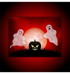 Halloween ghost panel background vector
