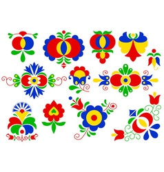 Moravian folk ornaments vector image