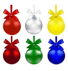 Set of balls Christmas decorations The symbols vector image vector image