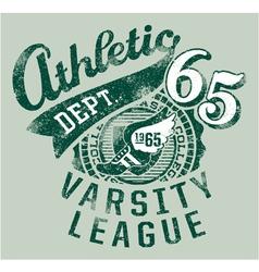 Varsity athletics vector image