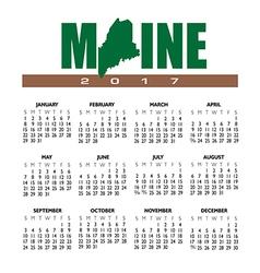 2017 Maine calendar vector image