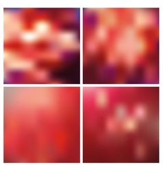 Abstract blurred square backgroundsred vector
