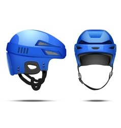 Classic blue hockey helmet vector