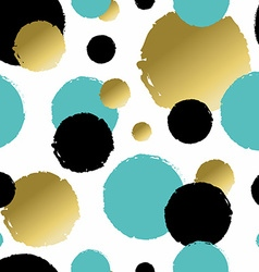 Colorful hand paint circle shapes background vector image