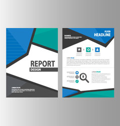 Green blue Black brochure flyer leaflet layout vector image