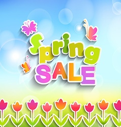 Spring sale label vector
