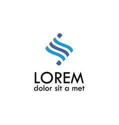 wave letter s logo vector image
