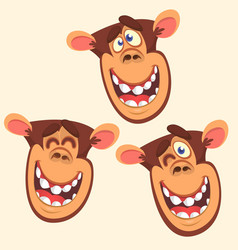 297monkey vector image