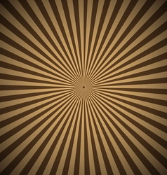 Brown radial rays abstract background vector image