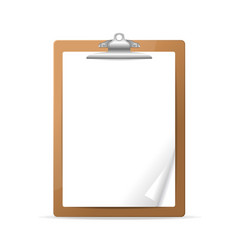 realistic detailed 3d clipboard vector image vector image