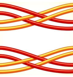 Red and orange crossed cables background vector image