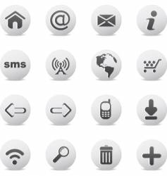 web icons round vector image vector image