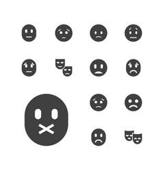 13 sadness icons vector