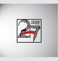 27 years anniversary logotype flat style vector