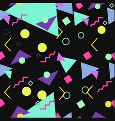 90s and 80s style pattern vector image