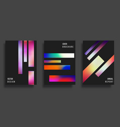 abstract cover design colorful gradient lines vector image