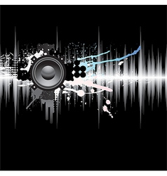 Abstract Grunge Music Background vector