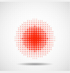 abstract halftone dotted circles colorful dots vector image